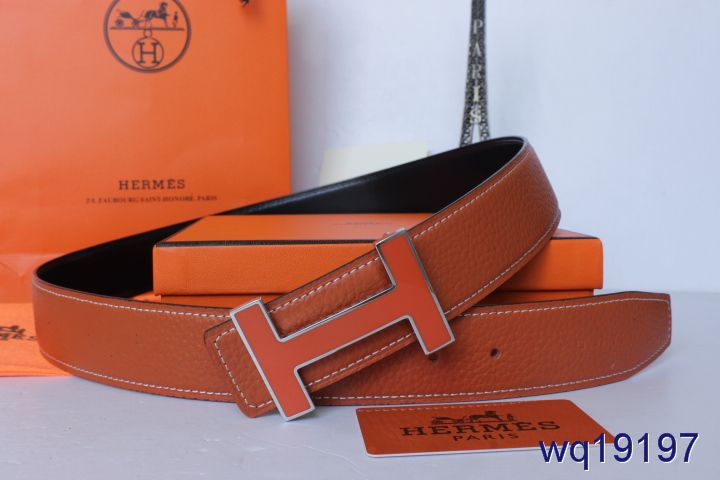 Shopping with Silver/Orange H Buckle Belt Orange Hermes Mens
